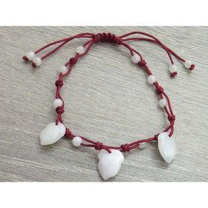 Jewelry - Jade Peach Cord Bracelet
